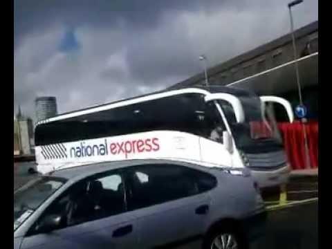 Birmingham Digbeth national express  coach station  buses  March 2013
