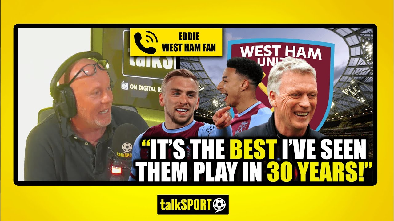 """""""THE BEST I'VE SEEN THEM PLAY IN 30 YEARS!"""" Eddie the West Ham fan has hopes for Europe"""