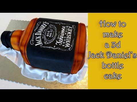 How to make a 3d Jack Daniel's bottle cake / Jak zrobić tort w kształcie butelki