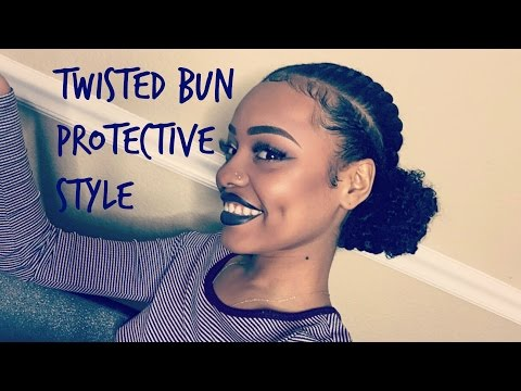 Twisted Bun Protective Style