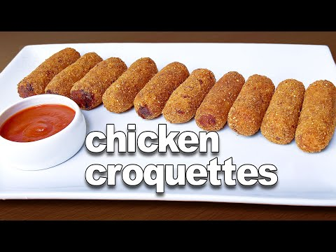 Croquettes | Chicken Croquettes Goan Recipe | Easy Party Snack Recipes