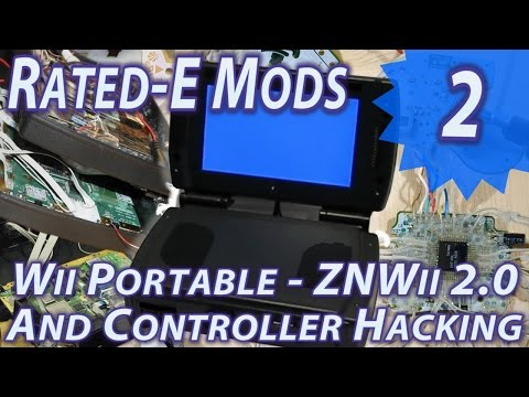 Wii portable -ZNWii 2.0- and Controller Hacking : Rated-E Mods 2