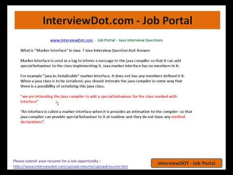 Java Interview Question And Answer What is Marker Interface Explain Java Interview
