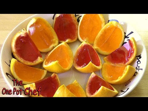 Orange Wedge Jello Shots | One Pot Chef