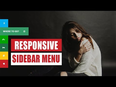Responsive HTML & CSS Side Menu from scratch - No JavaScript