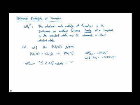 5.7 Standard Enthalpies of Formation
