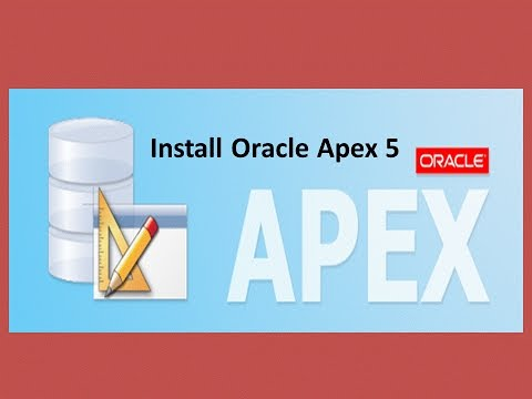 Install oracle apex 5