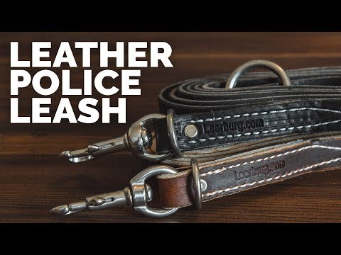 Leather Police Leash