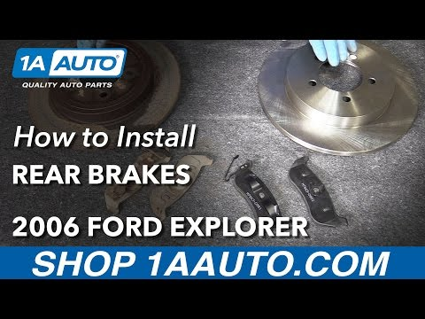 How to Install Rear Brake Pads Rotors Adjust Parking Brake 2006-10 Ford Explorer
