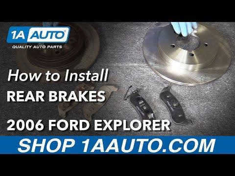 How to Install Rear Brake Pads Rotors Adjust Parking Brake 06-10 Ford Explorer