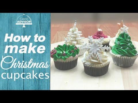 How to make cupcake - Christmas cupcake design,chocolate cupcake recipe