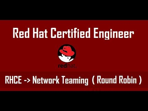 How to Configure Network Teaming in Centos 7 , Redhat 7 (Round Robin)