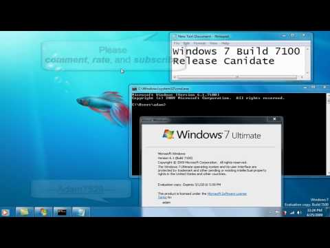 Windows 7 Build 7100 RC Proof