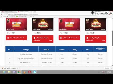 Carnival Cinema Unlimited  Movies E Card Details and Purchase Guide  from CarnivalCinema.com