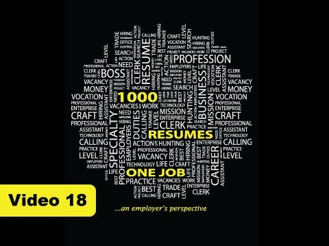 1000 Resumes, One Job - Video 18: Frequently Asked Questions