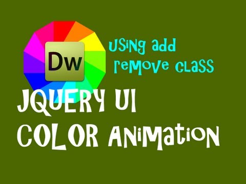 JQuery UI- Add and remove class to create a looping color animation, Part 1 of 2