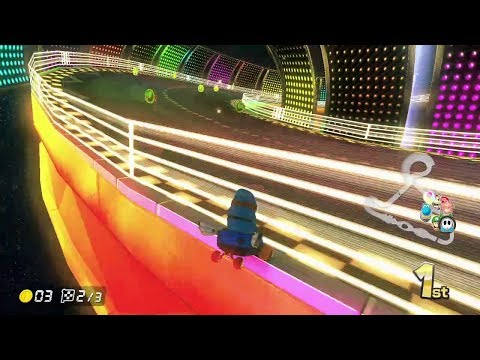 Saved by the Melody Motorway (Music Park) gods - Mario Kart 8 Deluxe clip