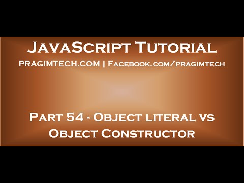 Object literal vs object constructor