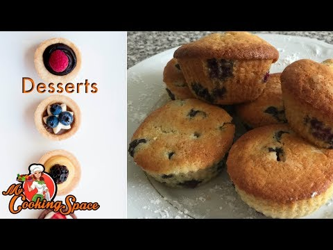Moist Blueberry Muffins - Blueberry Muffin Recipe|My Cooking Space