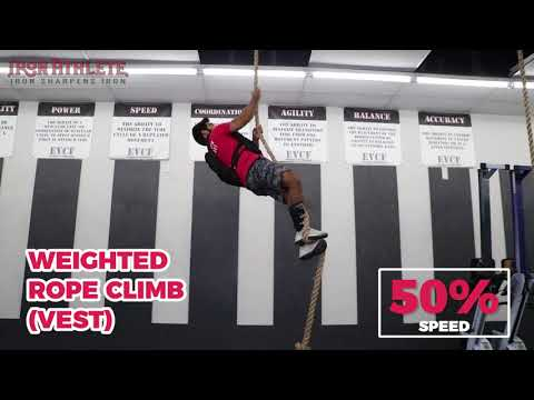 Weighted Rope Climb