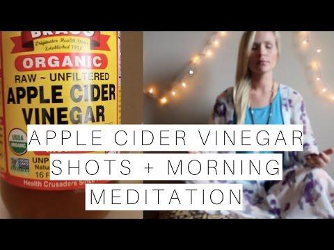 Easy to Drink Apple Cider Vinegar Shots + Morning Meditation