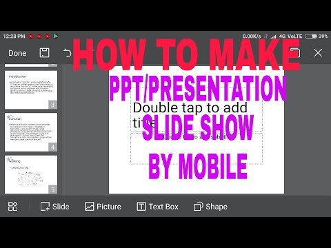 HOW TO MAKE PPT/ PRESENTATION SLIDE SHOW ON MOBILE in[ HINDI] // powerpoint se ppt kaise banaye