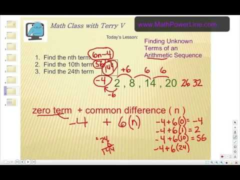 Arithmetic Sequences: Finding Unknown Terms