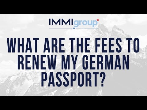 What are the fees to renew my German passport?