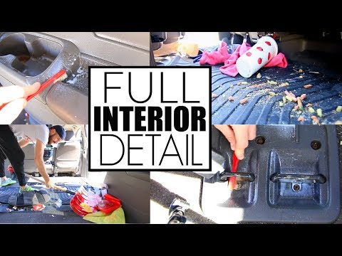 HOW TO Clean Car Interior Detailing - Destroyed By Kids