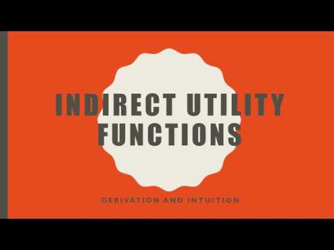 Indirect Utility Functions: Derivation and Intuition