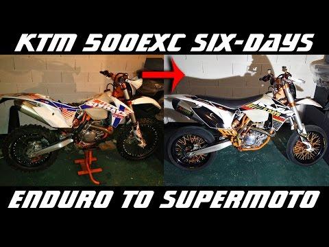 Enduro to Supermoto - How to Make a Supermoto