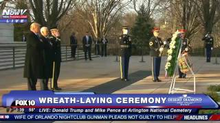 Donald Trump and Mike Pence Participate in Wreath-Laying Ceremony @ Arlington National Cemetery