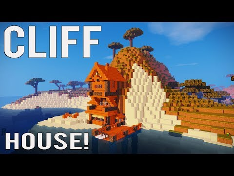 Minecraft: How to Make a CLIFF HOUSE/MOUNTAIN HOUSE TUTORIAL! 1.12/1.13/1.14 (PS4, MCPE, XBOX, ECT)