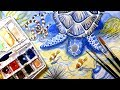 Sea Turtle Watercolor Painting || Animal Artists Collective: Oceans and Coasts