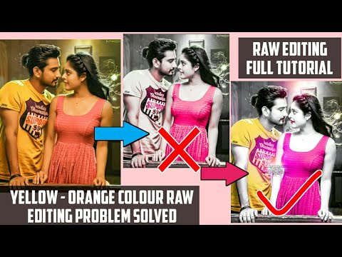 Yellow-Orange Colour Pic Raw Editing || Full Raw Editing Tutorial | Android | Rahul Creations