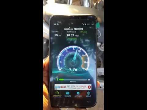 Reliance jio speed test