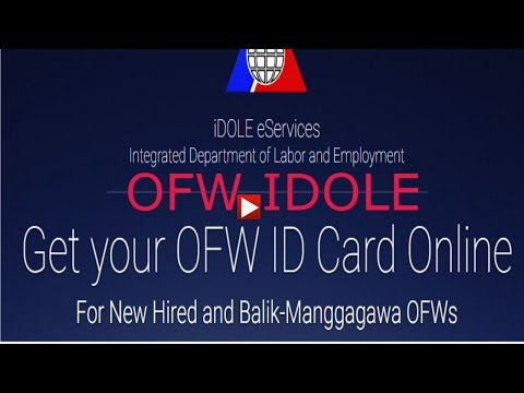 GET YOUR OFW ID CARD ONLINE
