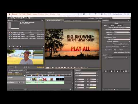 How to Create an Authored Blu-ray in Adobe Encore