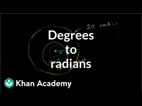 Example: Converting degrees to radians | Trigonometry | Khan Academy