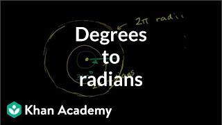 Example Converting Degrees To Radians Trigonometry Khan Academy