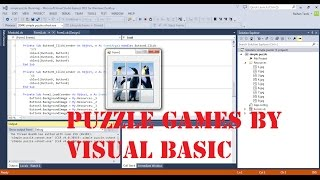 Visual Basic Tutorial - Create a Game - AS Picture Puzzle - Part 1