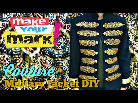 How to: Couture Military Jacket DIY