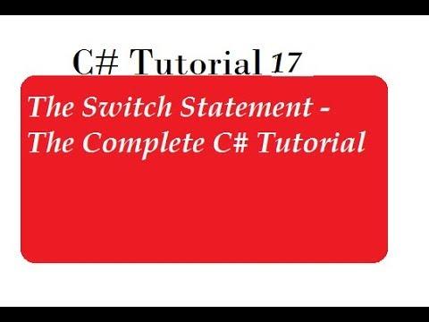 Switch Case in C#