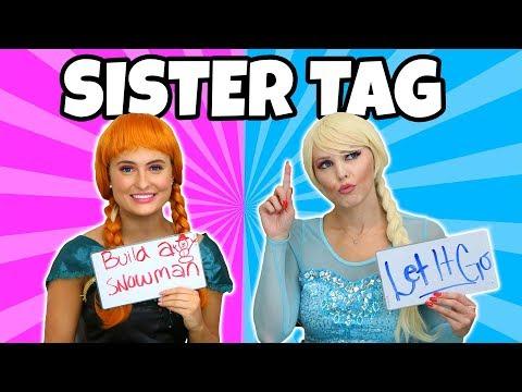 SISTER TAG CHALLENGE ANNA VS ELSA. (Totally TV Characters)