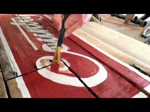 Making a decorative sign with pallet wood