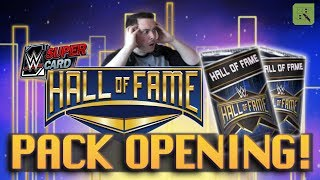 hall of fame insane 100k pack opening  wwe supercard