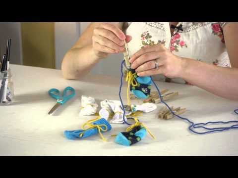 How to Make a Baby Sock Decoration : Crafts for Kids