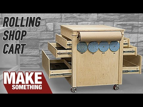 How to Make a Rolling Woodworking Shop Cart // Infeed Table and Sanding Station
