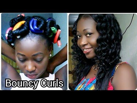 How To Curl Crochet Braids (Outré kanekalon Hair) | Flexi Rod Set