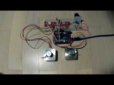 How to Control Stepper Motor using Arduino, Joystick and EasyDriver Board